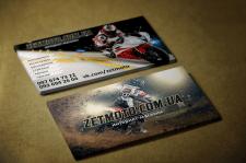 Визитки для интернт магазина zetmoto.com.ua